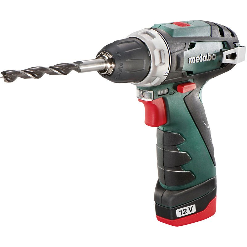 Image of Metabo 12 Volt Cordless Drill Screwdriver Power-Maxx BS 2 x Batteries + charger