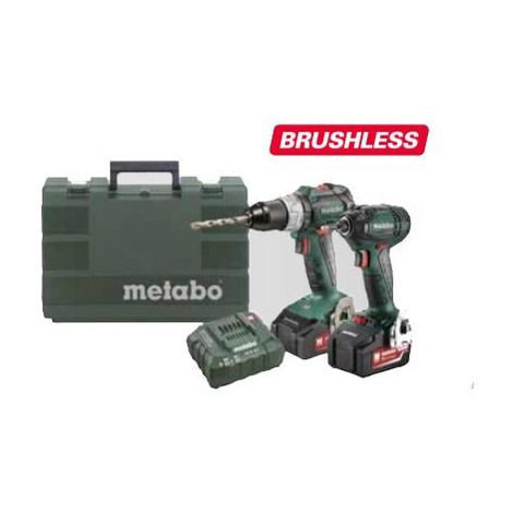 Metabo 18v Brushless Twinpack 2x 18v 5.2ah Combi & Impact Driver Kit