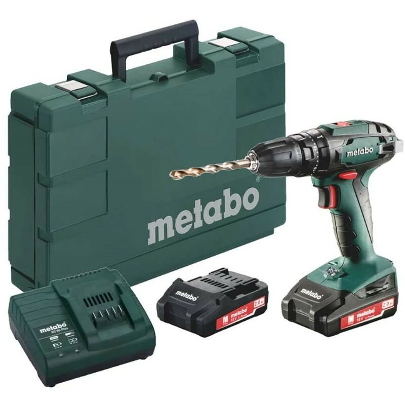 Image of Metabo 18v Cordless SB 18 Combi Hammer Drill Cased Kit Keyless Chuck MPTSB18P2