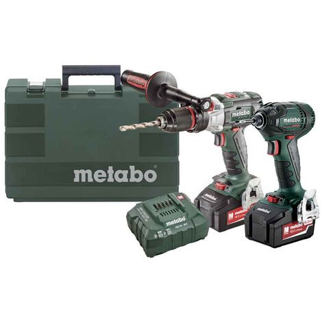 Metabo 18V LTX Brushless Combi Drill & Impact Driver with 2 x 4.0Ah UK685316895