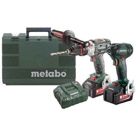 Metabo 18V LTX Brushless Combi Drill & Impact Driver with 2 x 5.2Ah 685127580