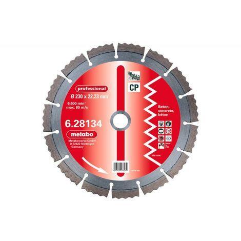 Metabo 2 X meules de tronçonnage diamantées, 230 x 2,15 x 22,23 mm, « professional », « cp », béton (628135000)