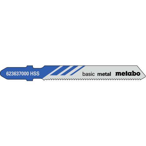 Metabo 3 lames de scie sauteuse « basic metal » 51/ 1,2 mm, HSS - 623965000
