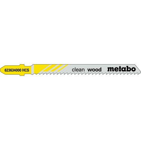 Metabo 3 lames de scie sauteuse « clean wood » 74/ 2,5 mm, HCS - 623961000