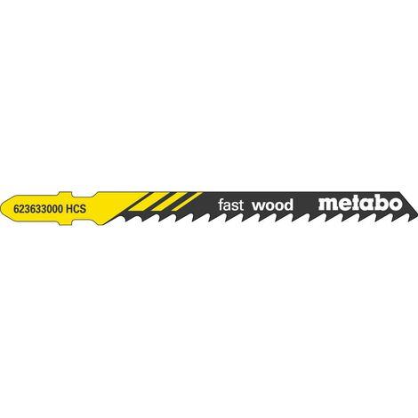 Metabo 3 lames de scie sauteuse « fast wood » 74/ 4,0 mm, HCS - 623964000