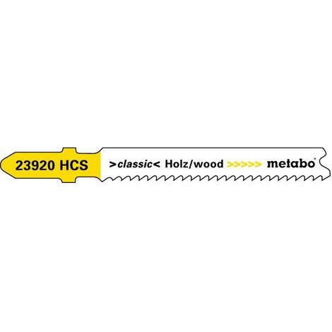Metabo 5 lames de scies sauteuses, bois, classic, 66 mm/progr.