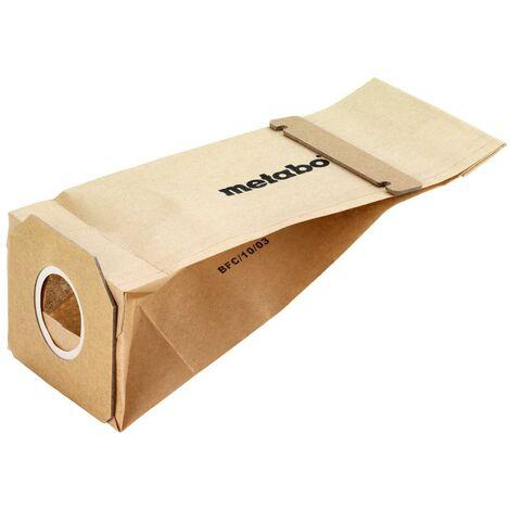 Metabo 5 sachets à poussière pour support de sachet à poussière 6.31385 pour ponceuse vibrante et ponceuse excentrique - 631286000