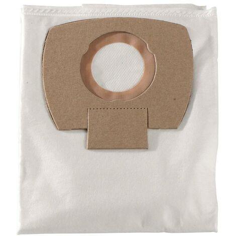 Metabo 5 sacs filtrants en non-tissé - 25/30 l, pour ASA 25 L PC , ASA 30 L PC Inox - 630296000