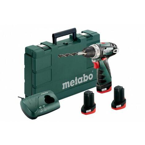 Metabo 600080960 10.8V Li-Ion atornillador inalámbrico / juego de brocas en estuche (batería 3x 2.0Ah) - 34Nm
