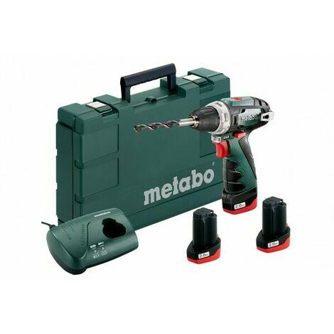 Metabo 600080960 Perceuse visseuse à batteries 10,8V Li-Ion (3x batterie 2,0Ah) dans coffret - 34Nm