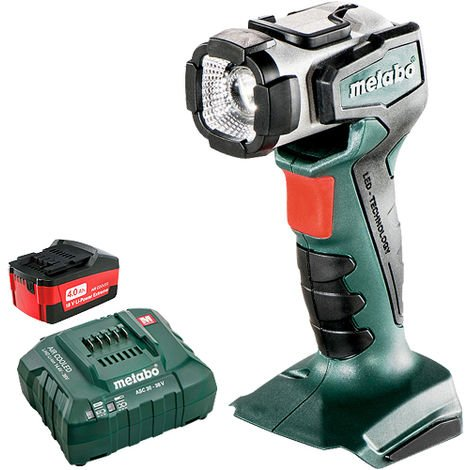 Metabo 600368000 14.4-18V Cordless Torch Body 4.0Ah Battery & Charger