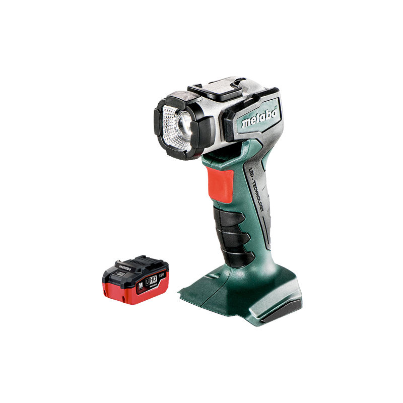 Image of 600368000 14.4-18V Cordless Torch Body Only & 5.5Ah Battery - Metabo