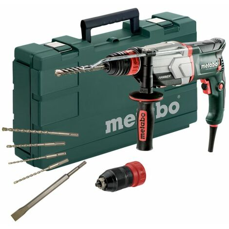 Metabo 600697850 UHE 2660?2 Quick Set + forets SDS Plus (/burins 5 pieces), 800 W