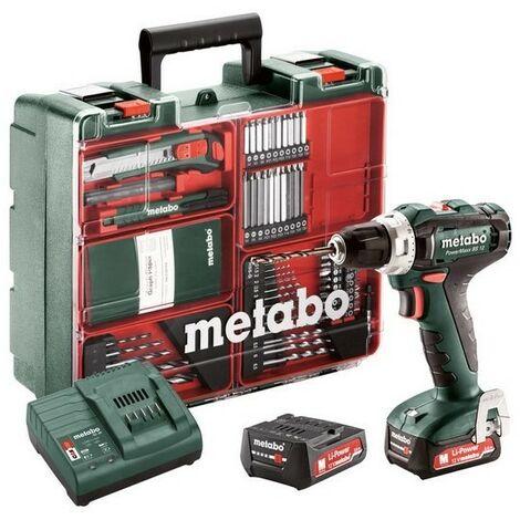 Metabo 601036870 Taladro atornillador a bateria 12V 2x 2Ah Li-Ion PowerMaxx BS 12 Mobile Workshop Con maletín
