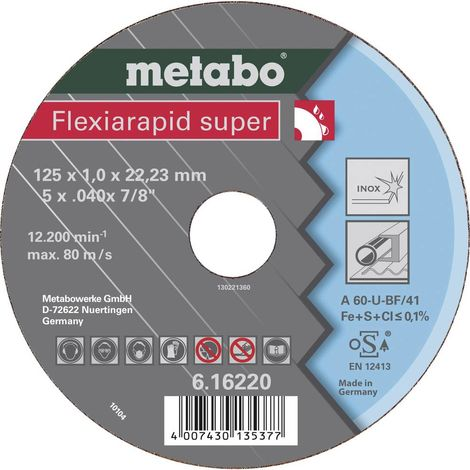 Metabo 616220000 Flexiarapid super Disque abrasif 125 mm 22.23 mm 25 pc(s)