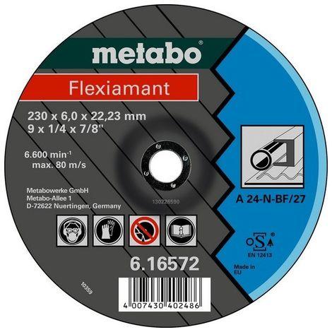 Metabo 616725000 Disco de desbaste amoladora angular Flexiamant A24-N para metal 115x6,8x22,23 mm (Envase 25 Ud)
