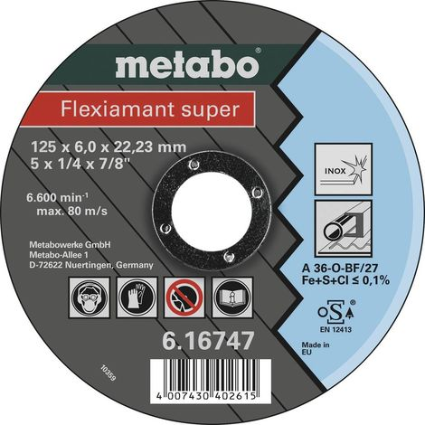 Metabo 616747000 Flexiamant super Disque abrasif 125 mm 22.23 mm 25 pc(s)