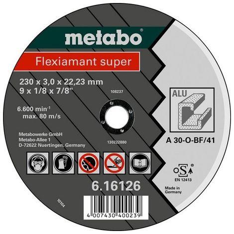 Metabo 616752000 Disco de tronzar plano amoladora angular Flexiamant Super A30-O para Metal NF 125x2,5x22,23 mm (Envase 25 Ud)