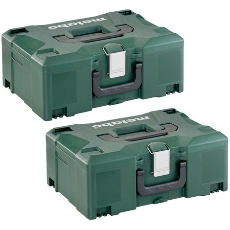 Metabo 626431000 Systainer Metaloc II Stackable Carry Case No Insert Twin Pack
