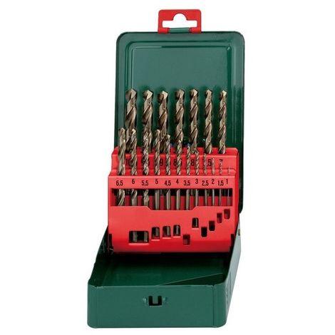 Metabo 627157000 Broca para metal HSS-Co DIN 338 Estuche metálico 19 piezas