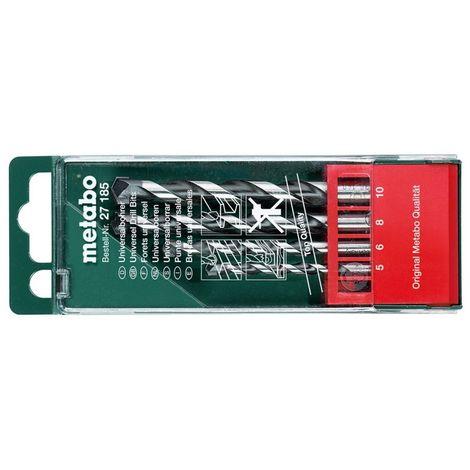 Metabo 627185000 Broca universale MD D5 6 8 10 mm Estuche 4 piezas