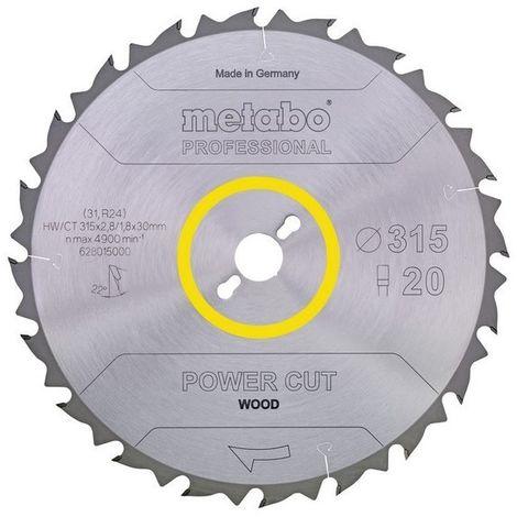 Metabo 628014000 Hoja sierra Metal duro HW CT Power Cut 300x30 mm Dientes 28 DI