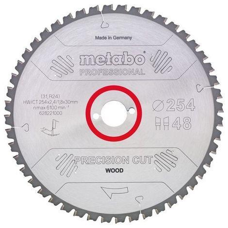 Metabo 628045000 Hoja sierra Metal duro HW CT Precision Cut 250x30 mm Dientes 34 DI