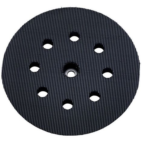 Metabo 631219000 Plato de apoyo multiperforado Enganche velcro D125 mm Dureza media