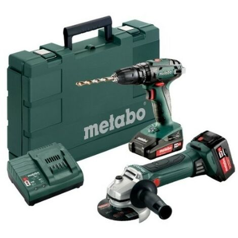 METABO 685089000 - Ensemble 2.4.4 18Vli-Ion SB18W18lTX 125 Rapideli-power 18V 2Ahli-power 18V 4Ah