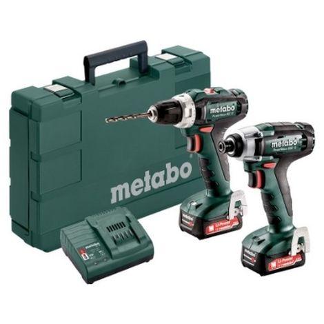 Metabo 685166000 Set 2.7.1 12V Li-Ion PowerMaxx BS12 + PowerMaxx SSD12BL + 2x Li-Power 12V 2Ah + SC30 Con maletín