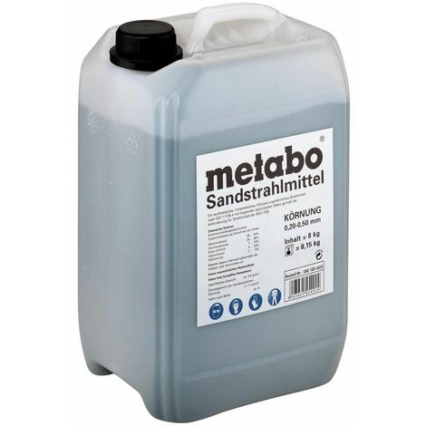 Metabo Agent de sablage, Granulation 0,2 - 0,5 mm, 8 kg