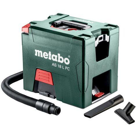 Metabo AS 18 L PC Aspirateur sans fil, 18V Li-Ion, carton, avec nettoyage manuel du filtre - 602021000