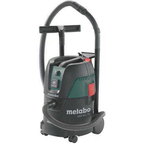 Metabo ASA 25 L PC - Aspirateur eau et poussière - 1250W - Classe L - 25L