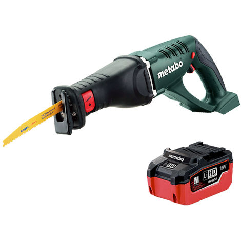 Metabo ASE 18 LTX 18v Li-ion Cordless Reciprocating Saw With 1 x 5.5Ah Battery:18V