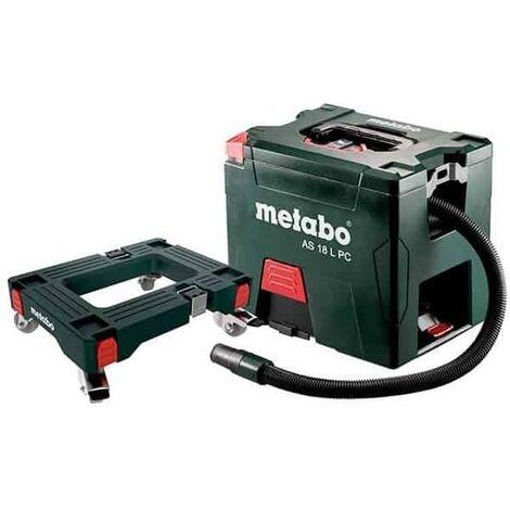 Metabo aspirateur sans fil 18v solo as18lpc + roulettes - 691060000