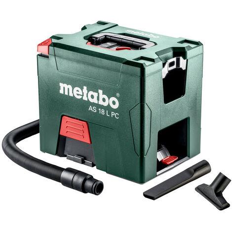 Metabo Aspirateur sans fil AS 18 L PC , 18V Li Ion, carton, avec nettoyage manuel du filtre 602021850 solo sans batterie ni chargeur