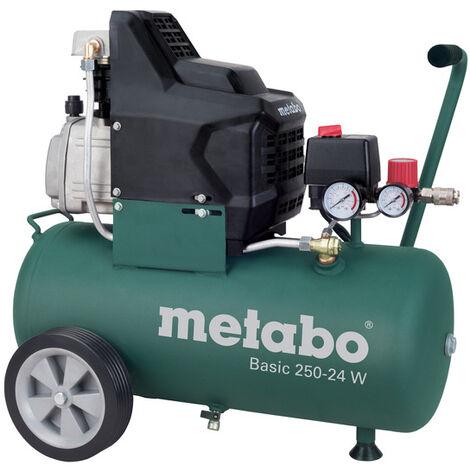 Metabo Basic 250-24 W - Compresseur d'air - 1500W - 24L - 95 l/min