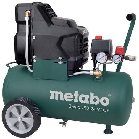 Metabo Basic 250-24 W OF - Compresseur d'air - 1500W - 8 bar - 24L - 100 l/min