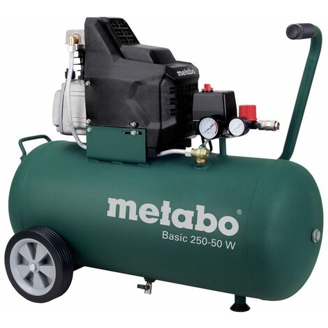Metabo Basic 250-50 W Compresseur - 1500W - 8 bar - 50L - 95 l/min