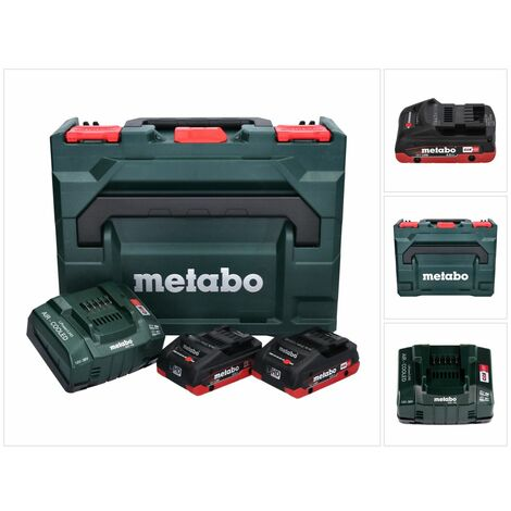 Metabo Basis Set LIHD + 2x Batteries 4,0 Ah + Chargeur + Coffret de transport Metaloc ( 685130000 )