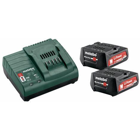 Metabo Batterie 12V + kit de base chargeur 2x batterie 2,0 Ah