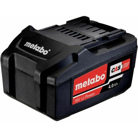Metabo Batteries Li-Ion coulissante « AIR COOLED » 18 V / 4,0 Ah - 62559100