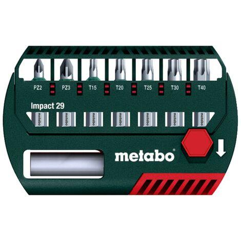 Metabo Boîte d'embouts Impact 29 pour perceuses-visseuses et visseuses à percussion - 628849000