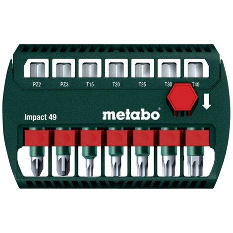 Metabo Boîte d'embouts Impact 49 pour perceuses-visseuses et visseuses à percussion - 628850000