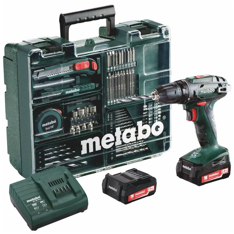 METABO Perceuse visseuse 14,4V 2Ah + 74 acc. BS14.4 Set - 602206880