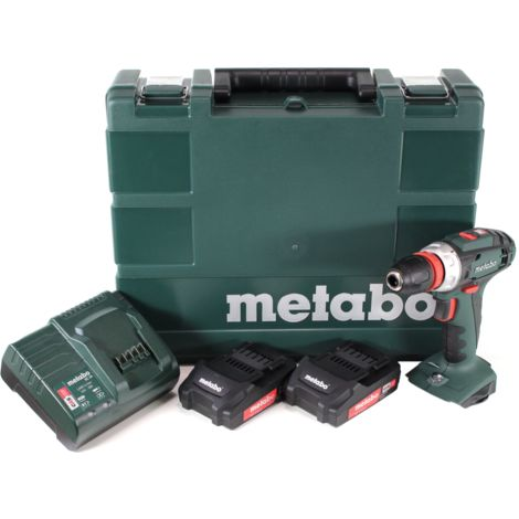 Metabo BS 18 Quick Perceuse-visseuse sans fil 18V 48Nm + 2x Batteries 2,0Ah + Chargeur + Coffret de transport ( 602217950 )
