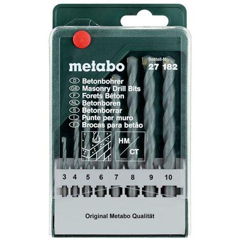 Metabo Cassette de forets à béton classic, 8 pièces