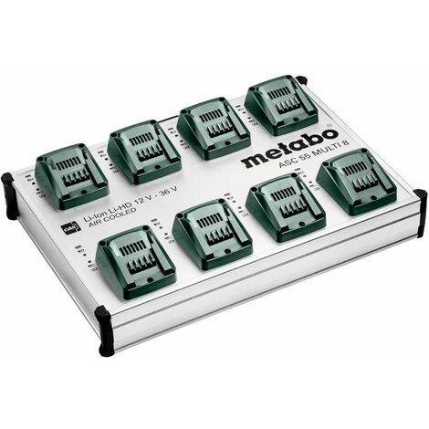 Metabo Chargeur ASC 55 MULTI 8, 12-36V, « AIR COOLED », EU - 627093000