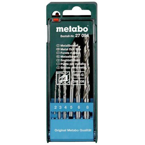 Metabo Coffret de forets HSS-G 6 pièces