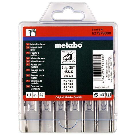 Metabo Coffret de forets HSS-G, 7 pièces - 627979000